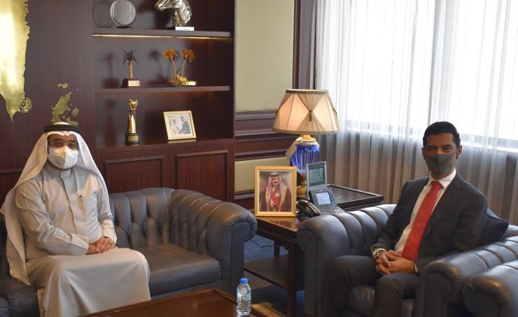 وزير شؤون الكهرباء يبحث مع النائب السلوم تعزيز التعاون المشترك بين الوزارة ومجلس النواب