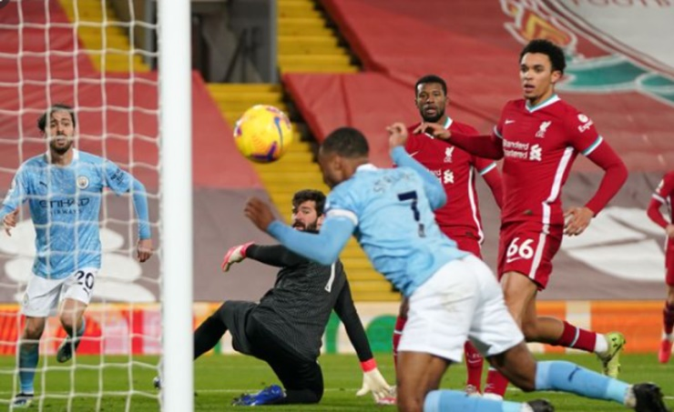 Image result for Manchester City five points clear after winning at Liverpool, Spurs seventh